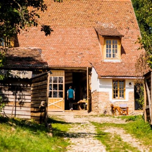 Viscri 32 - White Barn & Blue House